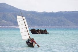 サバニ。沖縄の伝統帆船