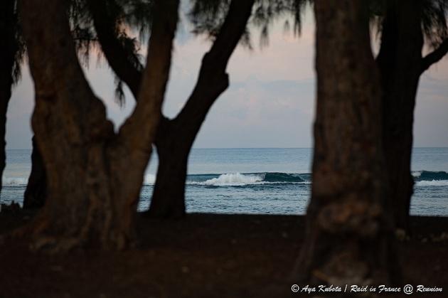 滞在先の目の前は海。夕方になると地元の方々がひと泳ぎにやってくる。