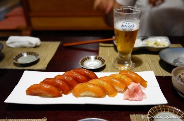 大東島の漬け寿司。めちゃくちゃ美味しい